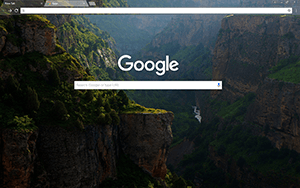 River Mountain Google Chrome Theme