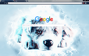 Sad Blue Puppy Google Chrome Theme