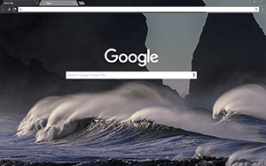Stormy Waves Google Chrome Theme