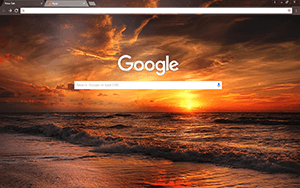 Sunset Beach Google Chrome Theme