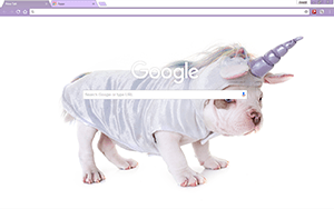 Unicorn Puppy Google Chrome Theme