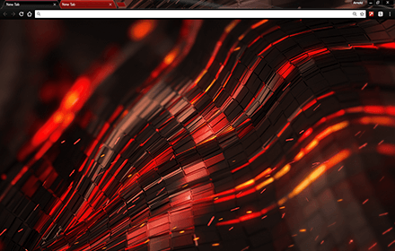 Alien Red Chrome Theme