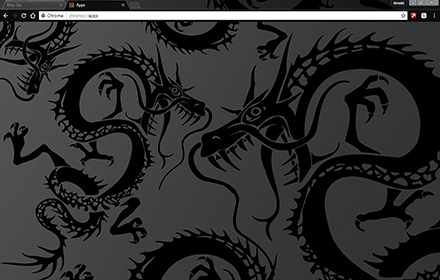 Black Dragon Chrome Theme