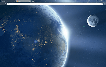 Earth From Space Chrome Theme
