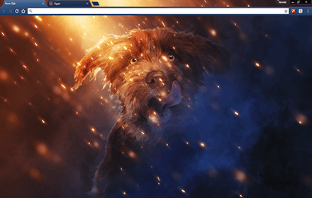 Puppy Dog Glory Google Chrome Theme