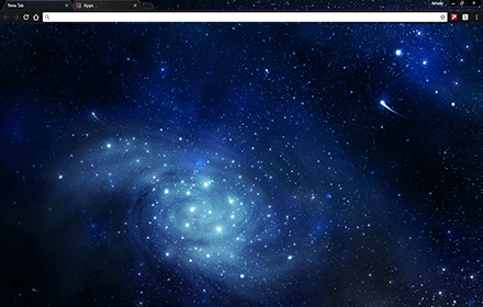 Space Blue Google Chrome Theme