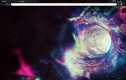Space Hole Chrome Theme