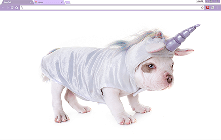 Unicorn Puppy Chrome Theme