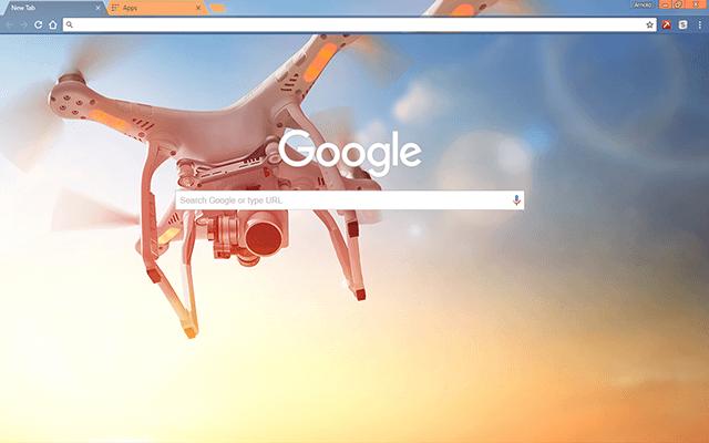Air Drone Google Theme