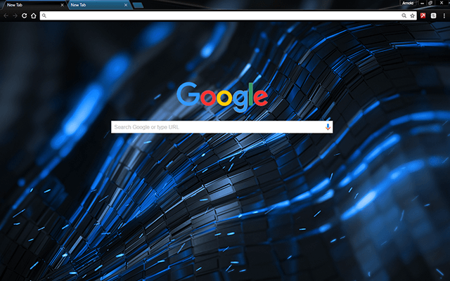 Alien Blue Chrome Theme