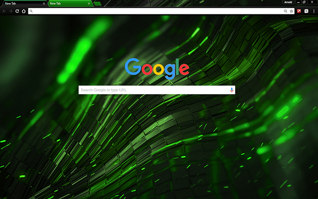 Alien Green Chrome Theme