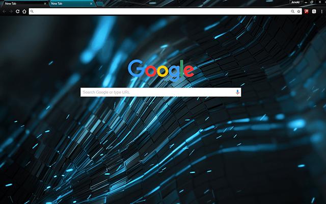 Alien Light Blue Google Theme