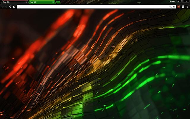Alien Multi Color Google Chrome Theme