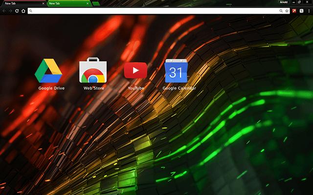 Alien Multi Color Chrome Theme