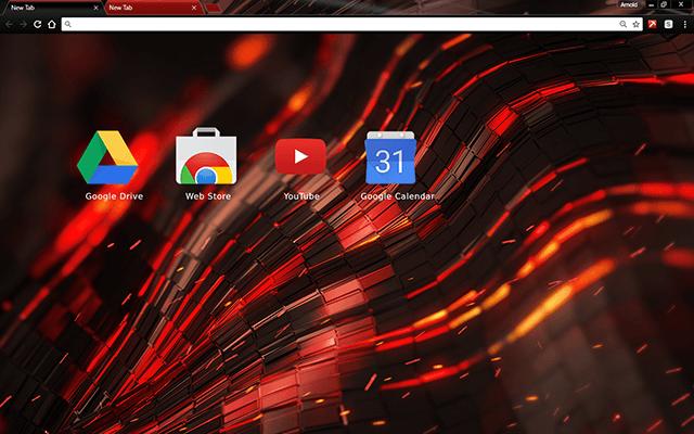 Alien Red Chrome Theme