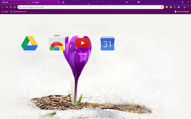 Alone Crocus Chrome Theme