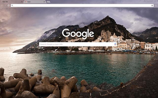 Amalfi Bay Google Theme