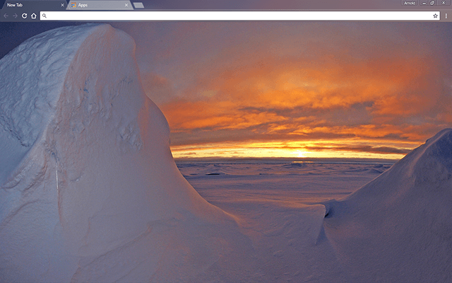 Arctic Ocean Google Chrome Theme