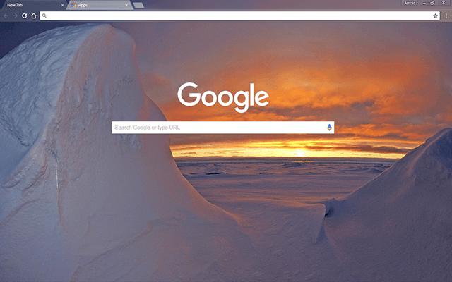 Arctic Ocean Google Theme