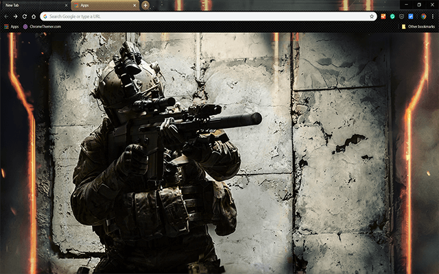 Army Ranger Google Chrome Theme