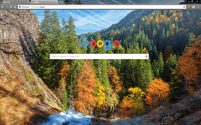 Autumn Forest Google Theme