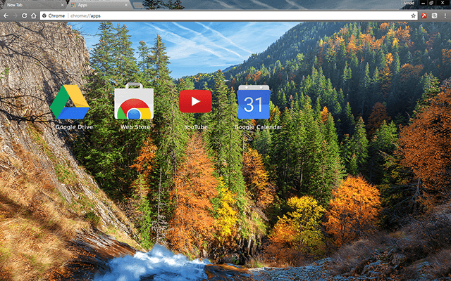Autumn Forest Chrome Theme