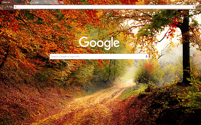 Autumn Road Google Theme