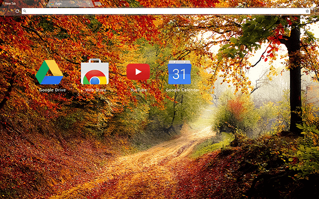 Autumn Road Chrome Theme