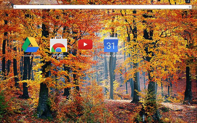 Autumn Woods Chrome Theme