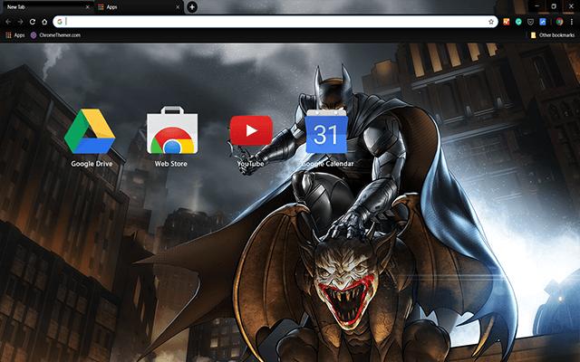 Batman Enemy Within Chrome Theme