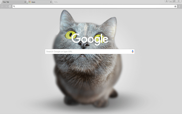 Big Head Kitten Google Theme