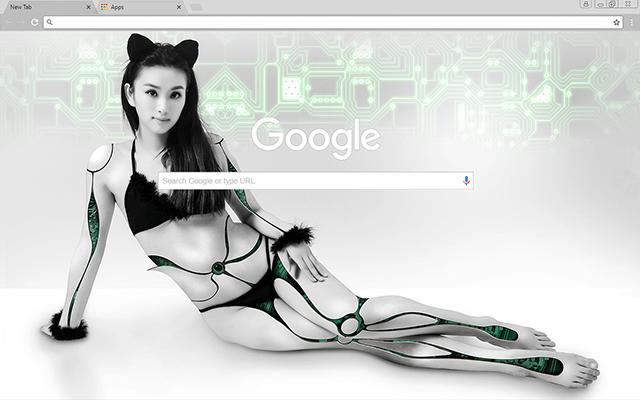 Bionic Catwoman Google Theme