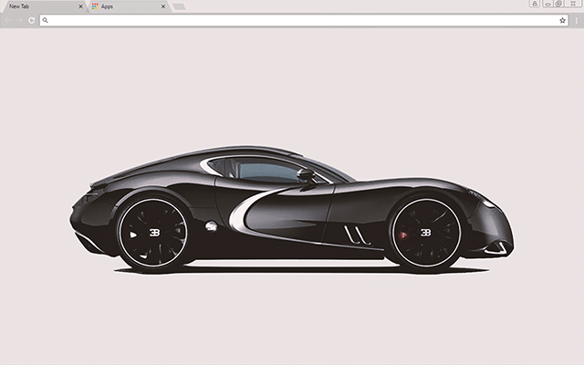 Black Bugatti - HD Background
