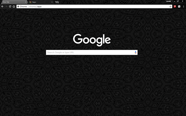 Black Design Google Theme