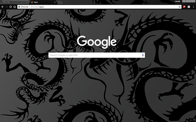 Black Dragon Google Theme