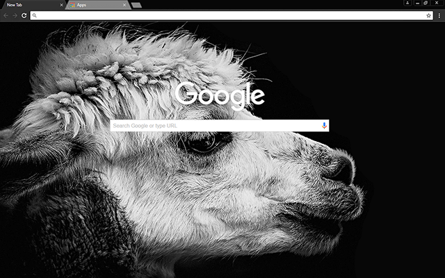 Black Lama - Google Homepage