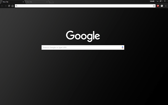Black Matte Google Theme