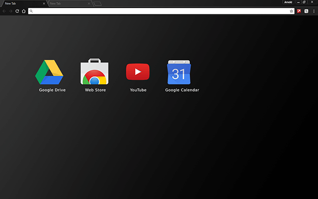 Black Matte Chrome Theme