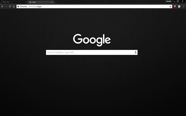 Black Metal Google Theme