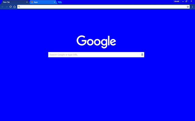 Blue Bloo Google Theme