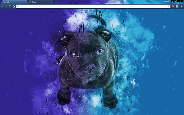 Blue Bull Terrier Google Chrome Theme