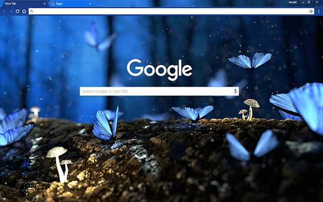 Blue Butterflies Google Theme
