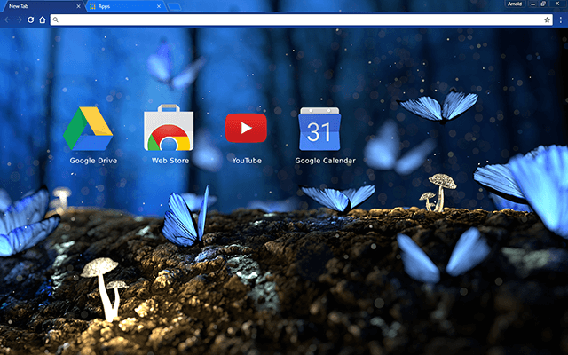 Blue Butterflies Chrome Theme