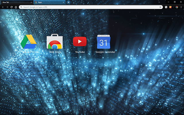 Blue Chill Chrome Theme