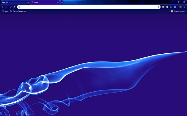 Blue Smoke Google Chrome Theme