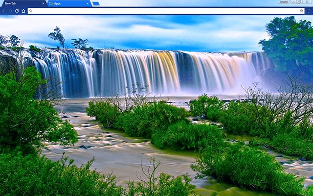 Blue Waterfall Google Chrome Theme