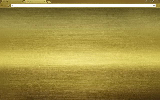 Brushed Gold Google Chrome Theme