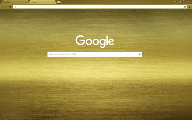 Brushed Gold Google Theme