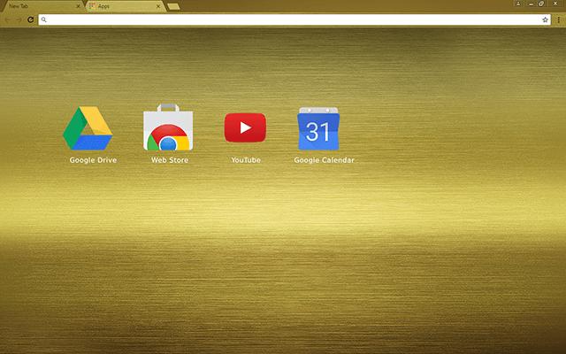 Brushed Gold Chrome Theme