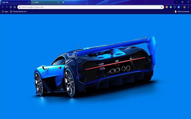 Bugatti Vision Google Chrome Theme